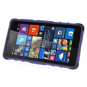 Vysoce odolný obal pro Microsoft Lumia 535 - fialový - 4