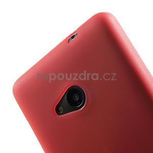 Matný gelový obal Microsoft Lumia 535 - červený - 4
