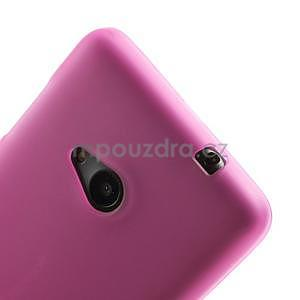 Matný gelový obal Microsoft Lumia 535 - rose - 4