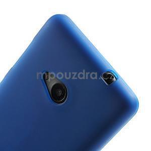 Matný gelový obal Microsoft Lumia 535 - modrý - 4