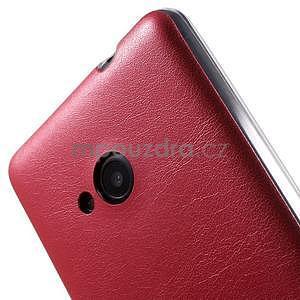 Ultra tenký kryt s jemnými koženkovými zády Microsoft Lumia 535 - červené - 4