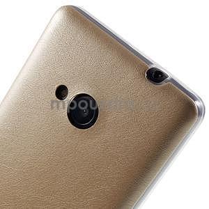 Ultra tenký kryt s jemnými koženkovými zády Microsoft Lumia 535 - champagne - 4