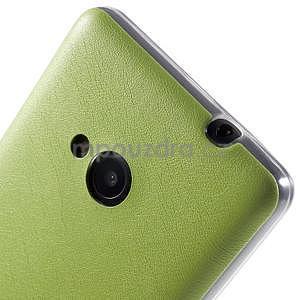 Ultra tenký kryt s jemnými koženkovými zády Microsoft Lumia 535 - zelený - 4
