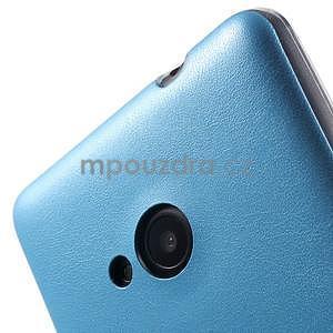 Ultra tenký kryt s jemnými koženkovými zády Microsoft Lumia 535 - modrý - 4