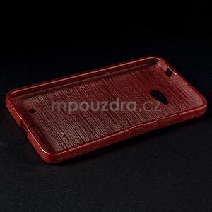 Broušený gelový obal na Microsoft Lumia 640 LTE - červený - 4