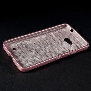 Broušený gelový obal na Microsoft Lumia 640 LTE - růžový - 4