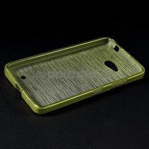 Broušený gelový obal na Microsoft Lumia 640 LTE - zelený - 4