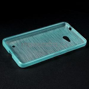 Broušený gelový obal na Microsoft Lumia 640 LTE - modrý - 4