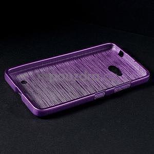 Broušený gelový obal na Microsoft Lumia 640 LTE - fialový - 4