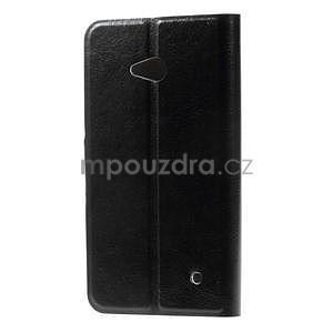 Černé peněženkové pouzdro na Microsoft Lumia 640 LTE - 4