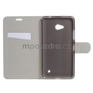 Tyrkysové peněženkové pouzdro na Microsoft Lumia 640 LTE - 4