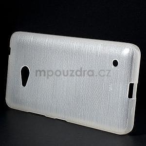 Broušený gelový obal na Microsoft Lumia 640 LTE - bílý - 4