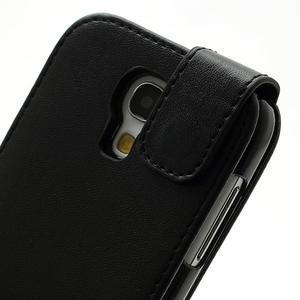 Flipové pouzdro na Samsung Galaxy S4 mini - černé - 4