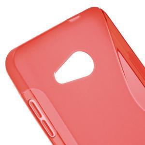 S-line gelový obal na mobil Microsoft Lumia 550 - červený - 4