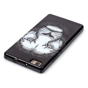Gelový obal na mobil Huawei Ascend P8 Lite - lev - 4