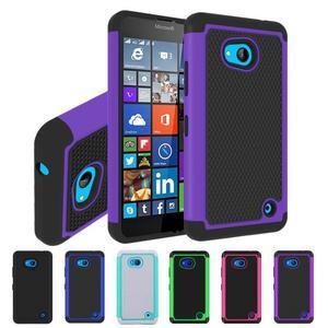 Odolný hybridní kryt na mobil Microsoft Lumia 640 - fialový - 4