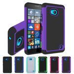 Odolný hybridní kryt na mobil Microsoft Lumia 640 - fialový - 4/5