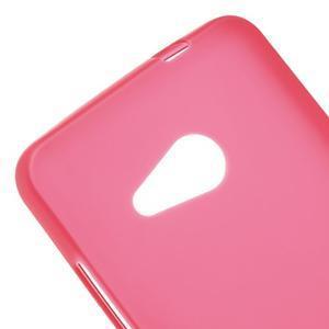 Matný gelový obal na Microsoft Lumia 550 - červený - 4