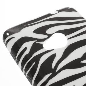 Soft gelový obal na Microsoft Lumia 535 - zebra - 4