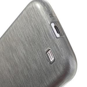 Gelový kryt s broušeným vzorem na Samsung Galaxy S4 - šedý - 4