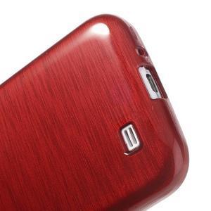 Gelový kryt s broušeným vzorem na Samsung Galaxy S4 - červený - 4