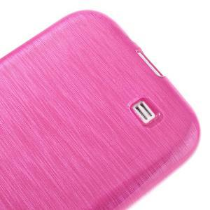 Gelový kryt s broušeným vzorem na Samsung Galaxy S4 - rose - 4
