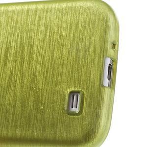 Gelový kryt s broušeným vzorem na Samsung Galaxy S4 - žlutozelený - 4