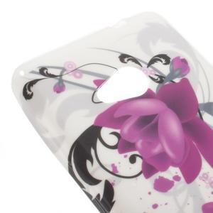 Soft gelový obal na Microsoft Lumia 535 - fialové květy - 4