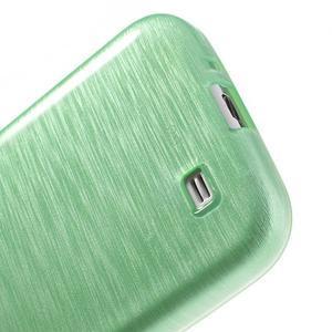 Gelový kryt s broušeným vzorem na Samsung Galaxy S4 - azurový - 4