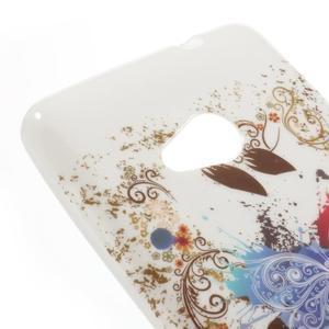 Soft gelový obal na Microsoft Lumia 535 - barevný motýl - 4