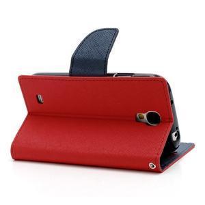 Fancy peněženkové pouzdro na Samsung Galaxy S4 - červené - 4