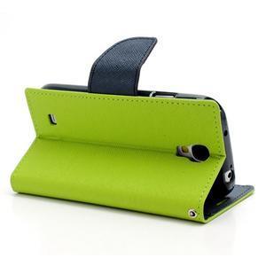 Fancy peněženkové pouzdro na Samsung Galaxy S4 - zelené - 4