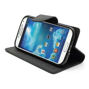 Fancy peněženkové pouzdro na Samsung Galaxy S4 -  černé - 4