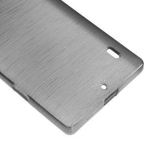 Gelový obal s broušeným vzorem Nokia Lumia 930 - šedý - 4