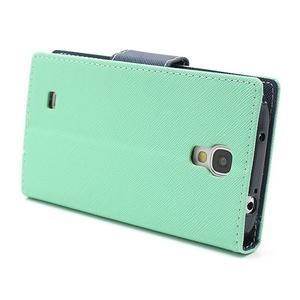 Fancy peněženkové pouzdro na Samsung Galaxy S4 -  azurové - 4