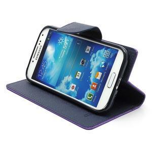 Fancy peněženkové pouzdro na Samsung Galaxy S4 -  fialové - 4