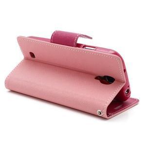 Fancy peněženkové pouzdro na Samsung Galaxy S4 -  růžové - 4