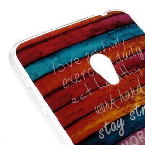 Gelový obal na mobil Asus Zenfone 5 - barvy dřeva - 4