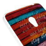 Gelový obal na mobil Asus Zenfone 5 - barvy dřeva - 4/5