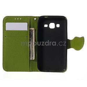 Hnědé/zelené peněženkové pouzdro na Samsung Galaxy Core Prime - 4