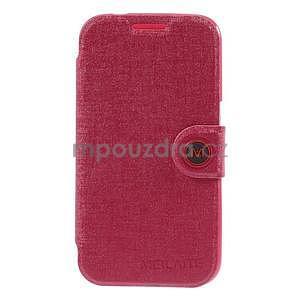Zapínací peněženkové pouzdro na Samsung Galaxy Core Prime - rose - 4