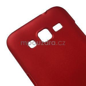Pogumový plastový obal na Samsung Galaxy Core Prime - červený - 4