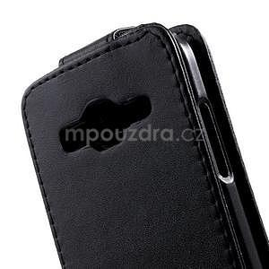 Černé flipové pouzdro na Samsung Galaxy Core Prime - 4