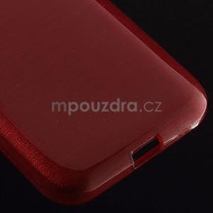 Broušený gelový kryt na Samsung Galaxy Core Prime - červený - 4