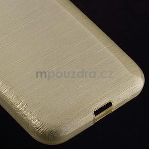 Broušený gelový kryt na Samsung Galaxy Core Prime - zlatý - 4