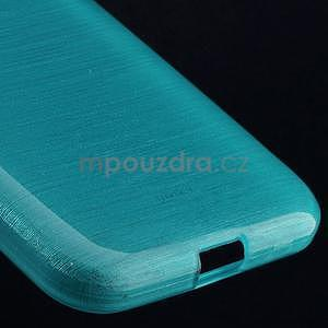 Broušený gelový kryt na Samsung Galaxy Core Prime - tyrkysový - 4