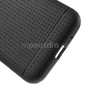 Černý tečkovaný kryt na Samsung Galaxy Core Prime - 4