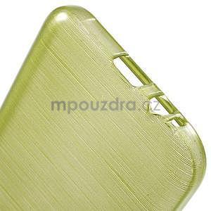 Broušené gelový kryt na Samsung Galaxy E5 - okrový - 4