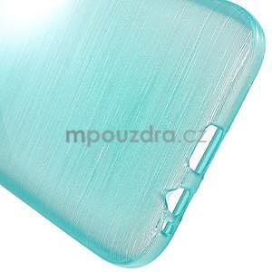 Broušené gelový kryt na Samsung Galaxy E5 - tyrkysový - 4