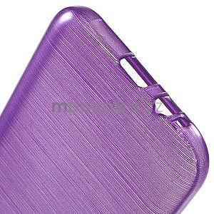 Broušené gelový kryt na Samsung Galaxy E5 - fialový - 4